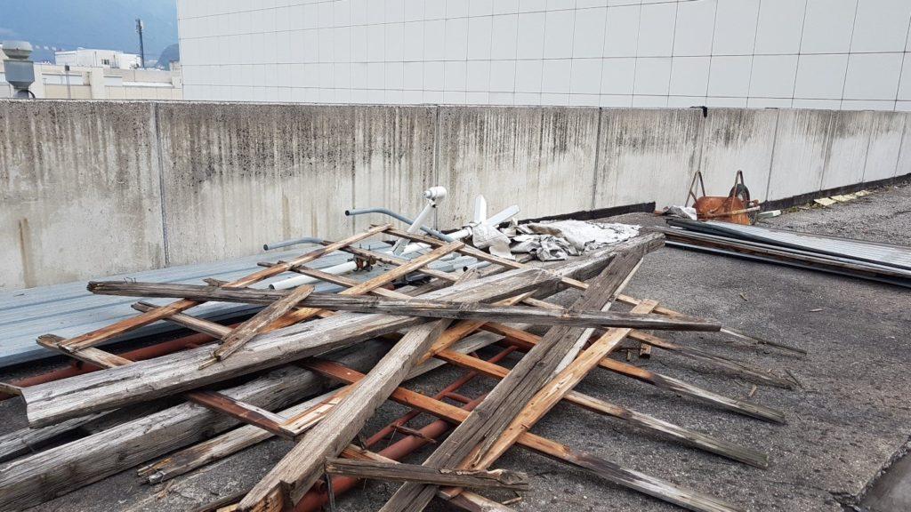 isolamento bolzano20160927 095059Medium 1024x576 - Deckendämmung, Baustelle Industriegebiet Bozen Casa bianca