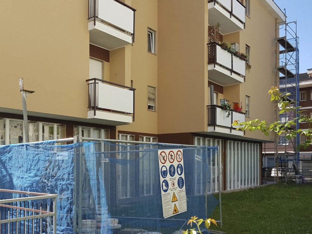 rifacimento parete esterna bolzano20160707 092457Medium 1024x768 - Rifacimento facciata esterna Cantiere Maso Della Pieve Condominio Ambra